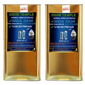 Didim Temple Soğuk Sıkım Erken Hasat Zeytinyağı 10 lt Didim